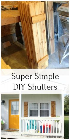 DIY Shutters --{Build Your Own Shutters in 5 Steps!} wood shutters how to build DIY Shutters --{Build Your Own Shutters in 5 Steps! Outdoor Shutters, Cedar Shutters, Farmhouse Shutters, Diy Shutters, Rustic Shutters, Diy Exterior Shutters Ideas, Diy Interior Wood Shutters, Outside Window Shutters, Window Shutters Exterior