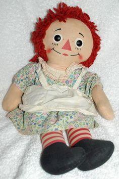 Knickerbocker Raggedy Ann...my childhood doll