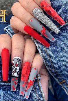 10 Creative Nail Designs for Short Nails to Create Unique Styles Summer Acrylic Nails, Best Acrylic Nails, Disney Acrylic Nails, Coffin Nails Matte, Gold Nails, Nail Swag, Stylish Nails, Trendy Nails, Gold Nail Designs