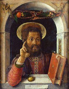 Andrea Mantegna -San Marco, 1448, tempera su tela, 82x63,5 cm, Francoforte sul Meno, Städelsches Kunstinstitut