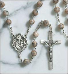 Ghirelli Saint Joseph with the Child Jesus Rosary with 8mm Bohemian Glass Prayer Beads