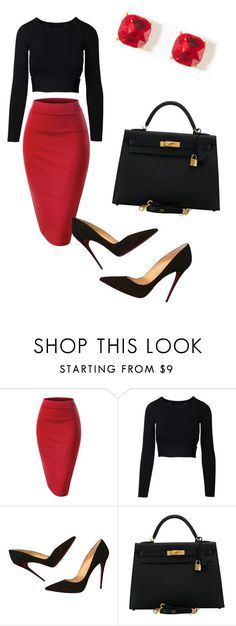 """Style #29"" by saric-fahreta ❤️ liked on Polyvore featuring Christian Louboutin and Hermès"