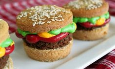 Hamburger cupcakes! I have the perfect party for these!