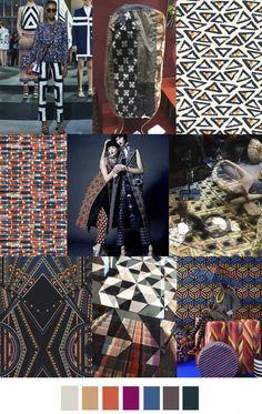 F/W 2018 women's pattern & colors trend: world geometry