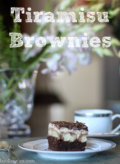 This tiramisu brownie recipe is a perfect dessert to bake for an Italian dinner or to enjoy with a cup of coffee.