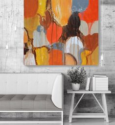 Color Shapes Geometrical Abstract Art, Wall Decor, Extra Large Abstract Colorful Contemporary Canvas Art Print up to by Irena Orlov Modern Canvas Art, Abstract Canvas Art, Acrylic Painting Canvas, Canvas Art Prints, Canvas Wall Art, Painting Art, Mid Century Wall Art, Color Shapes, Wall Decor