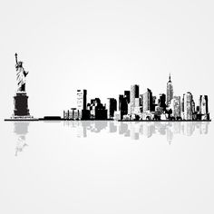 Vinyl Wall Decals Die Cuts With A View New York Cityscape Vinyl Art ❤ Liked  On