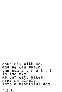 These Lovely Thoughts - Sit with Me