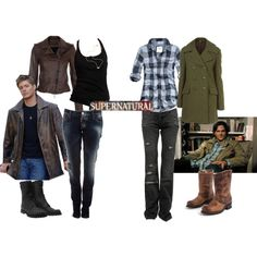 Supernatural Fan Girl Wardrobe one for Dean one for Sam ✤♠✤