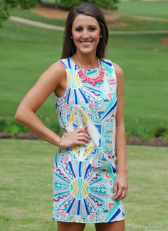 EVERLY On Top Of The World Tribal Print Dress