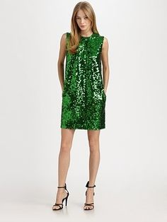 http://clothing33s.blogspot.com - By Malene Birger  Nuggaz Sequined Dress #greenwithenvy #lifeinstyle