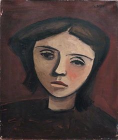 William Scott, Head of a Girl, 1946, Oil on canvas, 30.5 × 25.6 cm / 12 × 10 in, Whereabouts unknown