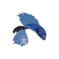 Beta Fish 1 Ceramic Swimming Pool Mosaic x Swimming Pool Mosaics, Swimming Pools, Glazed Ceramic Tile, Beta Fish, Angel Fish, Moorish, Tropical Fish, Mosaic Tiles, Mesh