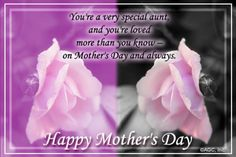 Mothers Day Messages Aunt  For My Aunt On Mothers Day Egreeting  Christian ECards