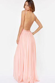 Something Special Crochet Maxi Dress - Blush