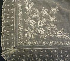 Fichu Date: ca. 1785 Culture: French Medium: cotton