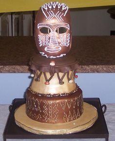 African Themed Wedding Cake Screen shot at PM African Wedding Cakes, African Wedding Theme, African Theme, African Weddings, Nigerian Weddings, Themed Wedding Cakes, Themed Cakes, African Cake, Artist Cake