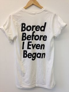 Image of BORED BEFORE I EVEN BEGAN - SHORT SLEEVE TEE