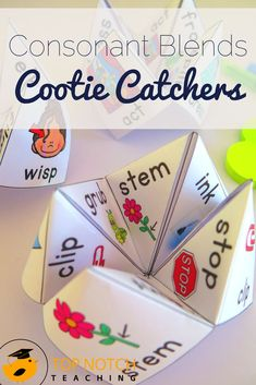 Do you need quick and fun ways for your students to practice and review phonics learning you've done in class? Cootie catchers (or chatterboxes/fortune tellers) are a fantastic way for your students to practice reading, writing and spelling words that have a particular phonics focus. This pack includes 16 different cootie catchers to help your students learn to read and spell words that contain consonant blends (VCC, CVCC and CCVC words).
