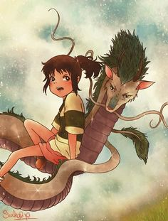 spirited away; love this movie