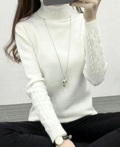 Thickening Warm Knitting Sweaters Turtleneck Knitwear Coat