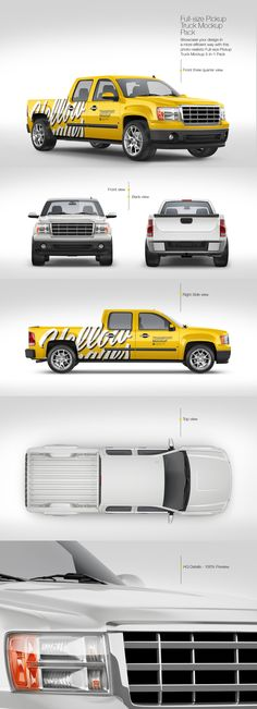 Download Pickup Truck Psd Mockup Yellowimages
