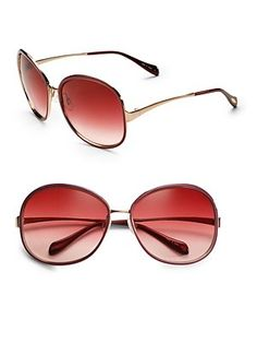Oliver Peoples Racy Enamel-Lacquered Metal Sunglasses