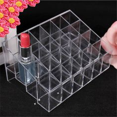 24 Transparent Lipstick Storage Box Acrylic Lipstick Holder Case Makeup Organizer Cosmetic Display Stand New Free Shipping S439 #>=#>=#>=#>=#> Click on the pin to check out discount price, color, size, shipping, etc. Save and like it!
