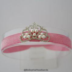 Baby Headband Princess Tiara Headband Baby by BySophiaHeadbands