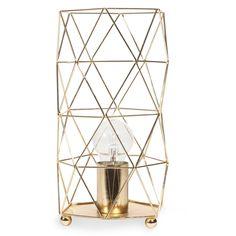 Lampe en métal H 29 cm TRENDY GOLD