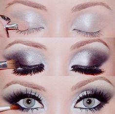 Maquillaje Smokey Eyes, Smokey Eye Makeup, Smokey Eyeshadow, Eyeshadow Makeup, Eyeshadows, Eyeshadow Tips, Eyeshadow Palette, Makeup Cosmetics, Makeup Eyebrows