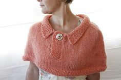 Audery Capelet PDF Knitting Pattern.