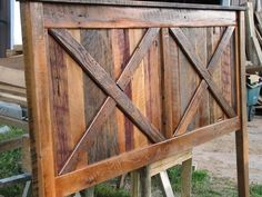 Queen Size Rustic Bed Frame Made With Beveled Posts For