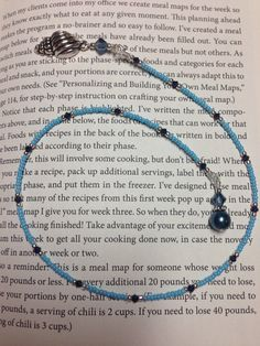 Handmade Blue Beaded Seashell Bookmark Book by JillsHandmadeStuff
