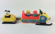 Fisher Price Little People Play Family Mini Snowmobile by irisbean