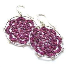 List of free earring crochet patterns. Make yourself some cute crochet earrings. Patterns include crochet turtle earrings, crochet star earrings,...