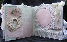 SHABBY CHIC STYLE SCRAPBOOKING PAPER BAG ALBUM PRIMA FAIRY/FAIRIES by Toni | eBay