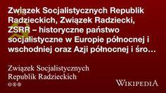 """""""Związek Socjalistycznych Republik Radzieckich"""" på @Wikipedia: Workers Union, Organization"""