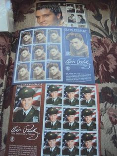 ELIVIS PRESLEY COLLECTIBLE STAMPS FROM THE 25TH ANNIVERSARY EDITIONS