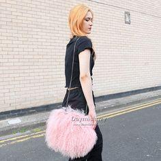 £58.00 #ootd #fur #bag #furbag #womensfashion #womenstyle #accessory #fashionbag #fashionaccessory #sheepskin #sheepskinbag #shoulderbag #bags #ladyfashion #ladystyle #girlsfashion #girlstyle #handmade #boutique #boutiquefashion #boutiquestyle #giftforher Lamb Shoulder, Fur Bag, Nylon Bag, Everyday Bag, Women's Fashion, Long Curly, Pink, Furs, Ootd