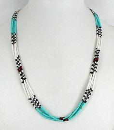Santo Domingo 5 Strand Heishi  Necklace
