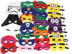 Super Hero Mask Party Pack Set of 15 by superheroforparty on Etsy