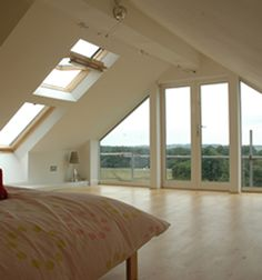 Like this - full length windows. attic conversion ideas