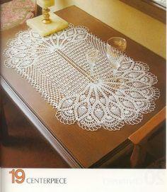 Materiales gráficos Gaby: Caminos de mesa en ganchillo