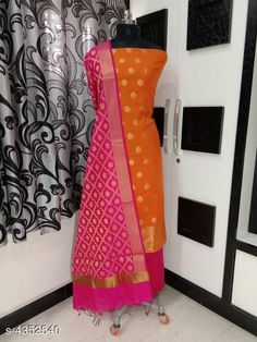 Suits & Dress Materials Nia Stylish Banarasi Polycotton Women's Suits & Dress Materials Top Fabric: Polycotton + Top Length: 2.01-2.25 Mtr Bottom Fabric: Polycotton + Bottom Length: 2.26-2.50 Mtr Dupatta Fabric: Polycotton + Dupatta Length: 2.01-2.25 Mtr Type:  Pattern: Woven Design Multipack: Single Country of Origin: India Sizes Available: Un Stitched   Catalog Rating: ★4.1 (618)  Catalog Name: Nia Stylish Banarasi Polycotton Women'S Suits & Dress Materials Vol 18 CatalogID_624714 C74-SC1002 Code: 177-4352540-7602