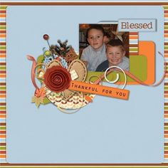 """2/22/14 Gotta Pixel Digital Scrapbook LOTD: Today's layout layout of the day is called """"Owl by Thankful"""" by totallycre8tive. www.gottapixel.net/"""