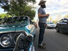 Open Road Stetson, 64 Impala SS on Congress ATX Lonestar Roundup 2016 #bearded