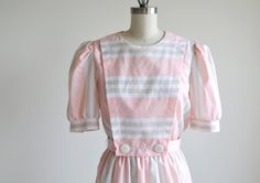 Vintage ESPECIALLY YOURS pink stripe dress