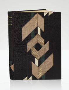 Robert Bonfils 1886 - 1972 Jacques Drésa 1869 - 1929 Henri de Régnier 1864 - 1936,Le bon plaisir. Paris, Éditions René Kieffer, 1919 A GEOMETRIC MOROCCO BINDING BY ROBERT BONFILS.