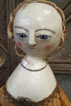 Pollye Pofst a Ooak  Queen Anne Doll by DiamondkFolkArt on Etsy, $665.00